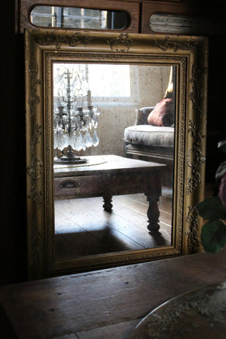 French Decorative Gold Mirror
