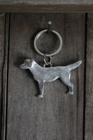 Pewter Dog Key-Ring