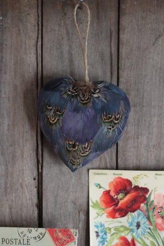 Feather Heart Decoration