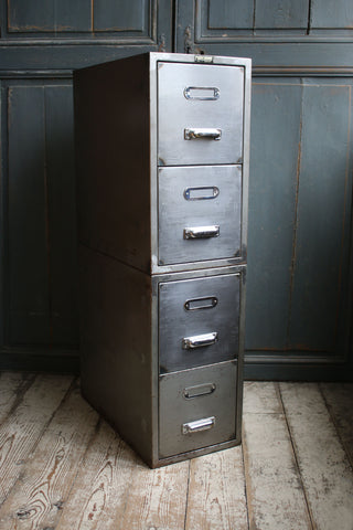 Vintage Belgian Steel Drawers