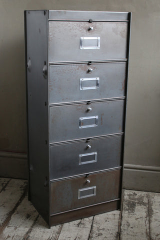 French Vintage Steel Cabinet