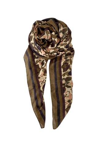 PETREA forest print scarf - Army