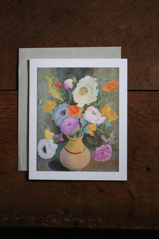 Art Angels Card - Poppies and Sweet Peas