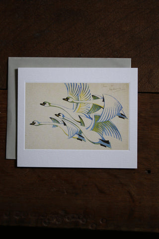 Art Angels Card - Swans 1939