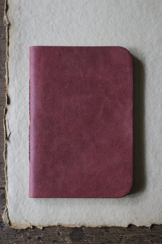 French Red Leather Notebook