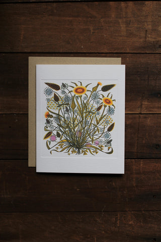 Art Angels Card - Goat's Beard and Grasses