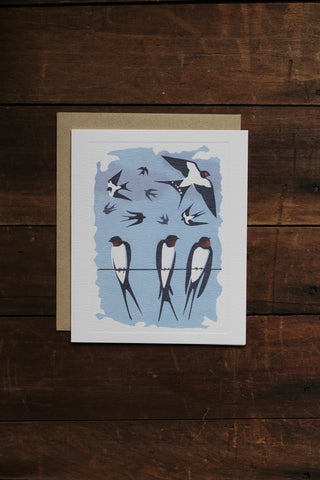 Art Angels Card - Swallows (Tweet of the Day)