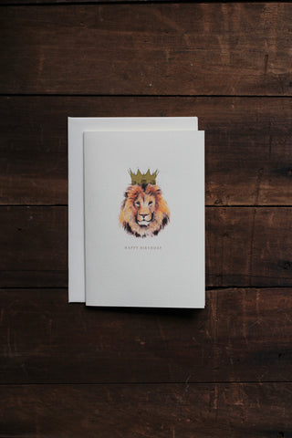 Elena Deshmukh Card, Happy Birthday Lion