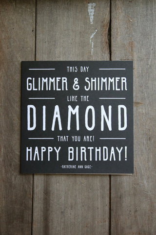 Quotable Card - Glimmer & Shimmer