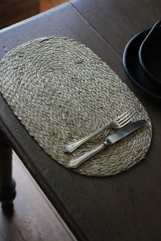 Natural Oval Seagrass Placemats
