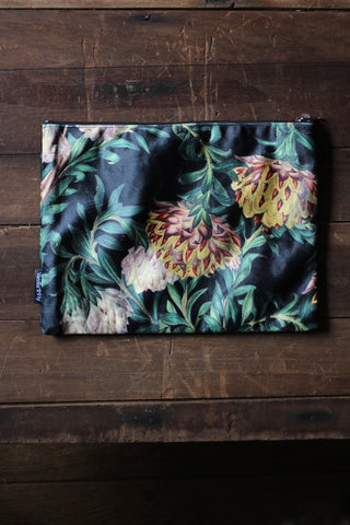 Exotic Flower Velvet Pouch