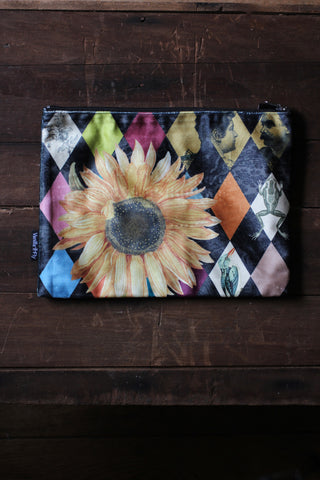 Sunflower Velvet Pouch
