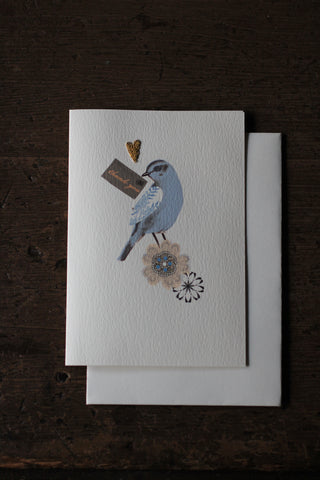 Elena Deshmukh Card, Thank You Bird