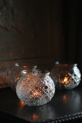 Pressed Glass Votive