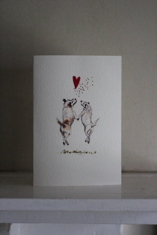 Elena Deshmukh Card, happiness/two terriers