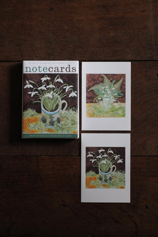 Art Angels Notecard wallet - Snowdrops and Ferns & Snowdrops and Lichen