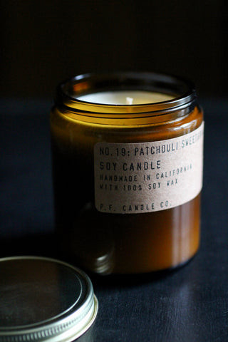 P. F. Candles - NO. 19 Patchouli Sweetgrass Candle
