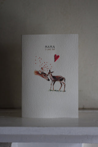 Elena Deshmukh Card, Mother's Day Baby Fawn