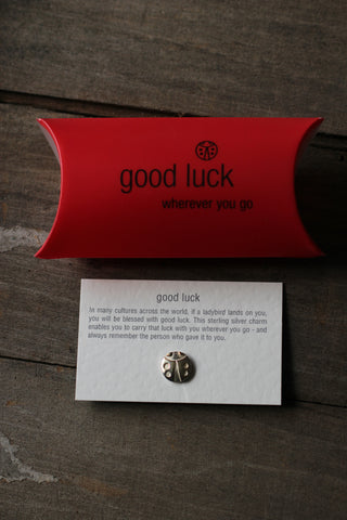 Silver Good Luck Charm - Ladybird