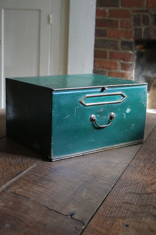 Vintage Steel French Filing Box