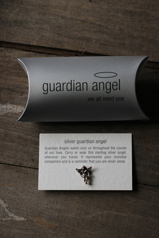 Silver Guardian Angel Charm