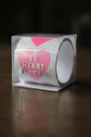 50 Heart Foil Stickers