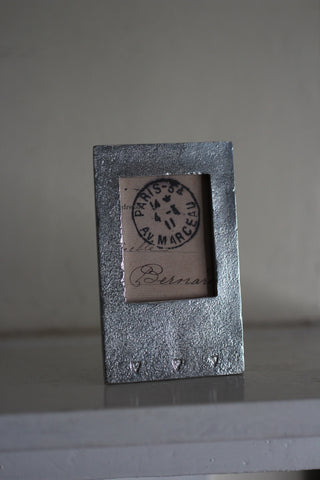 Pewter Mini Frame, with hearts