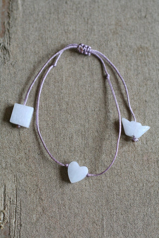 JADE MINI HEART BRACELET