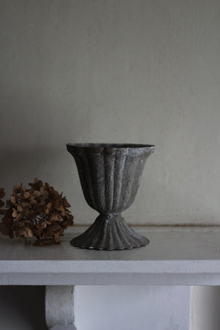 Mini Metal antiqued urn pot