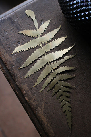 Decorative Brass Fern Foliage