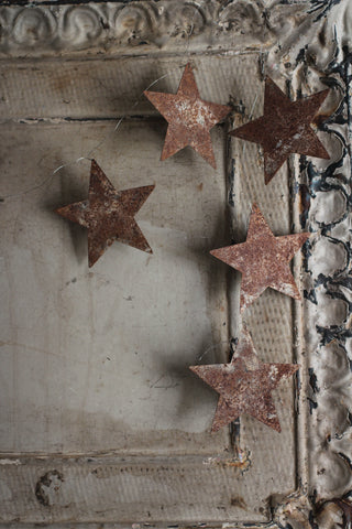Star Rusty Metal Garland