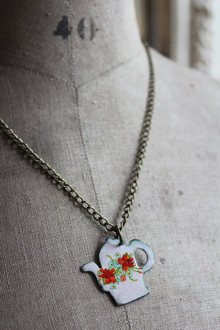 ENAMEL TEAPOT NECKLACE