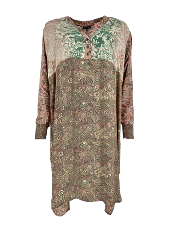 LUNA long kaftan shirt Pink