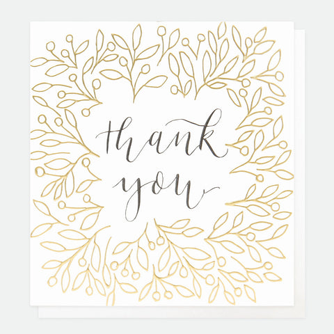 Caroline Gardner Thank You Calligraphy Card