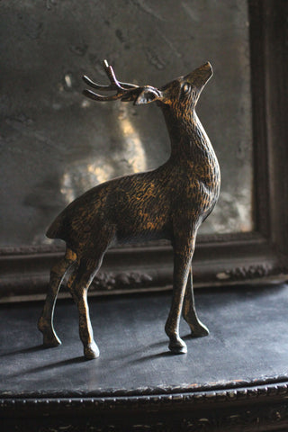 Antiqued Metal Reindeer