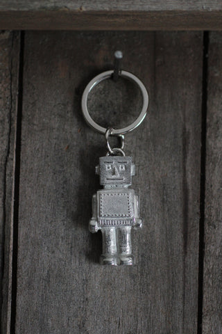 Pewter Robot Key-Ring