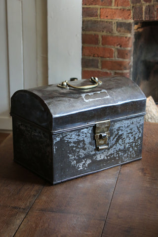 Round Top Vintage Steel Box