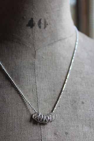 SILVER LUCKY SEVEN NECKLACE
