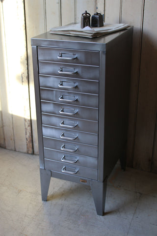 Vintage Steel 10 Drawer