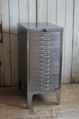 14 Drawer Vintage Filing Drawers