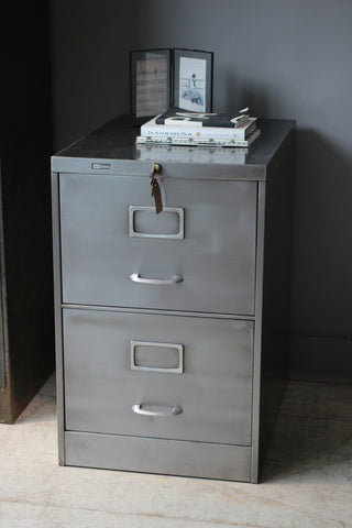Two Drawer Roneo Filing Cabinet