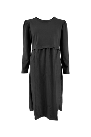SALLY sweat/taffeta dress