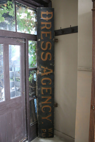 Antique Dress Agency Handpainted Shop Sign