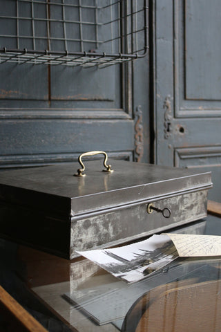 Vintage French Deed Box & Key