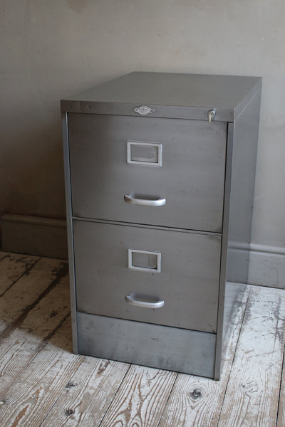 Art Metal Two Drawer Filing Cabinet | discoverattic