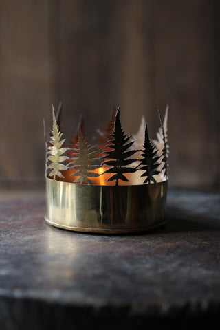Walther & Co Brass Fern Tea Light