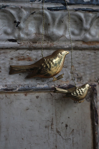 Walther & Co 2 Brass Birds Decoration
