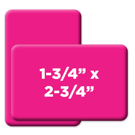 1.75 x 2.75 inch rounded rectangle custom buttons