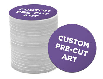 custom precut art for button making