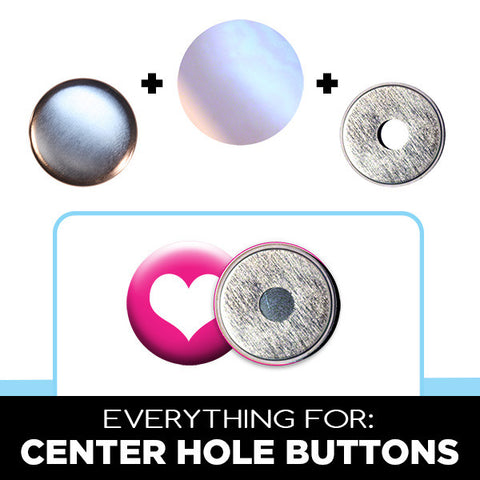 Centre Hole Buttons for crafts and use with welded up eyes